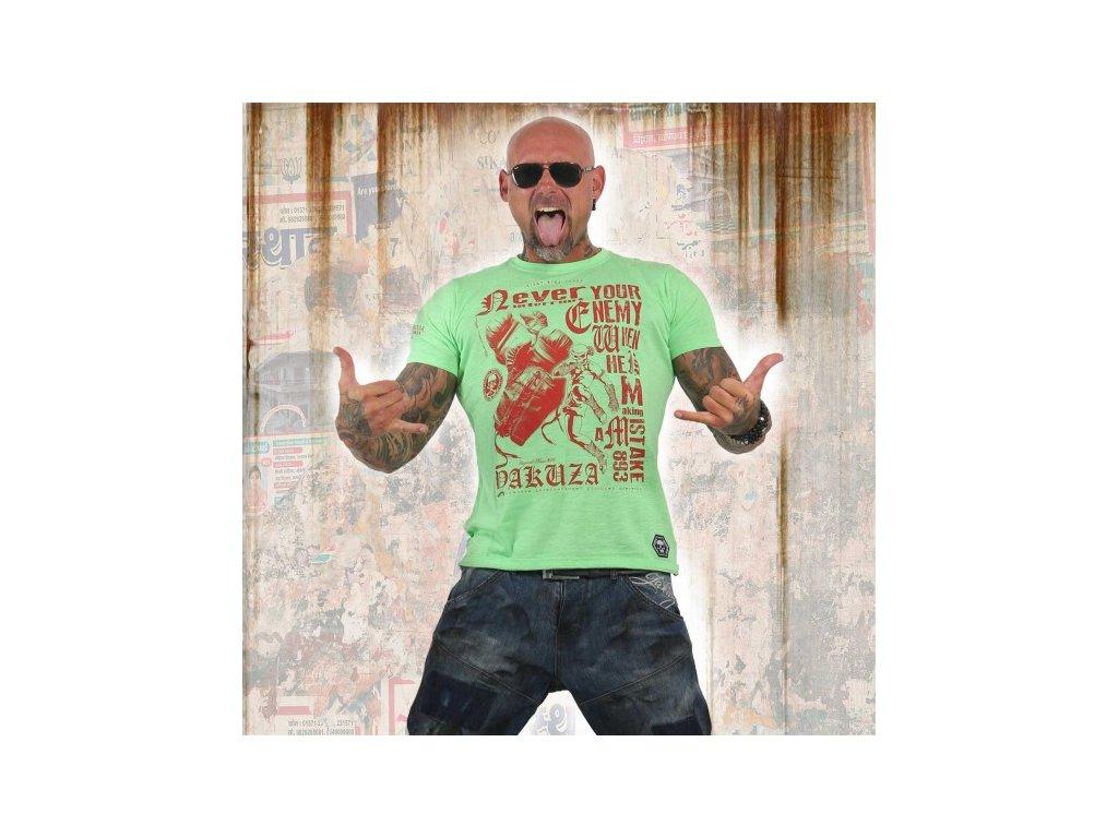Yakuza tričko pánske MISTAKE TSB 12021 summer green