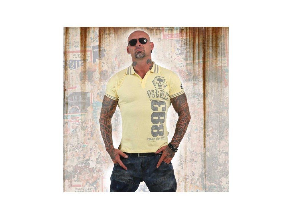 Yakuza polo tričko CROSS 12024 pale banana