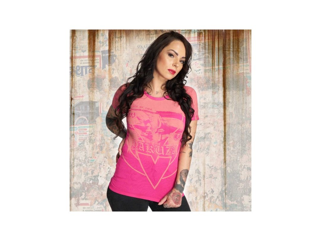 Yakuza TROJAN dámske tričko GSB 12110 fuchsia rose