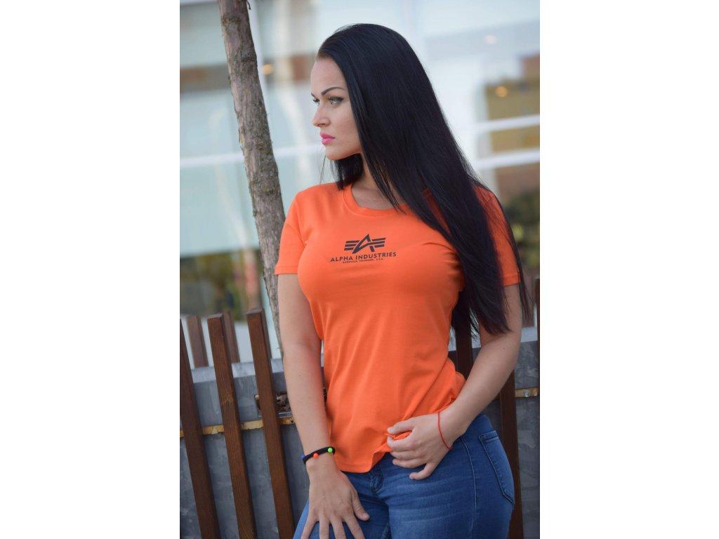 Alpha Industries Basic T Wmn tričko dámske flame orange