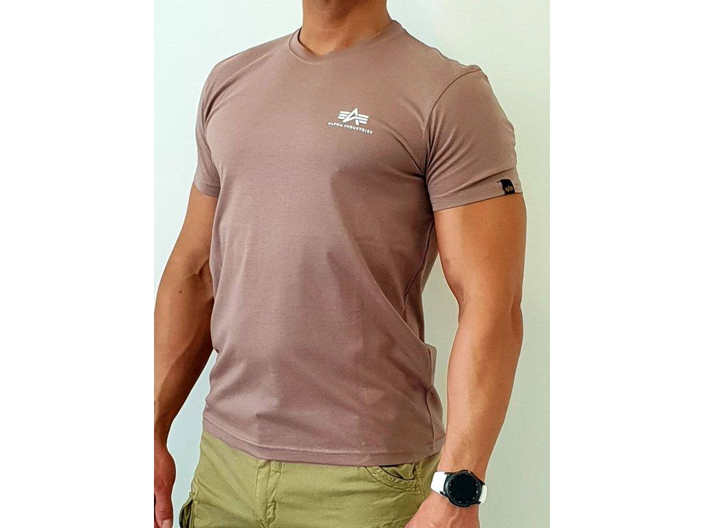 Alpha Industries Basic T Small logo Mauve tričko pánske