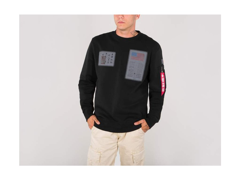 Alpha Industries mikina Blood Chit Sweater black