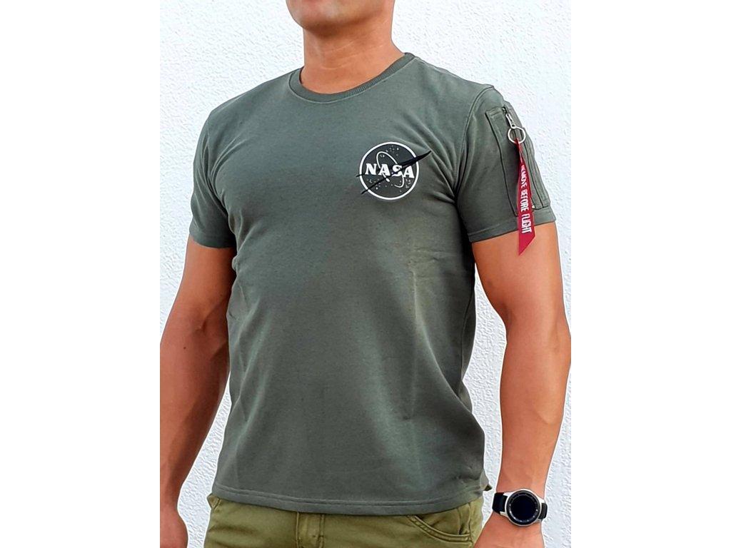 Alpha Industries NASA Heavy T tričko pánske dark olive