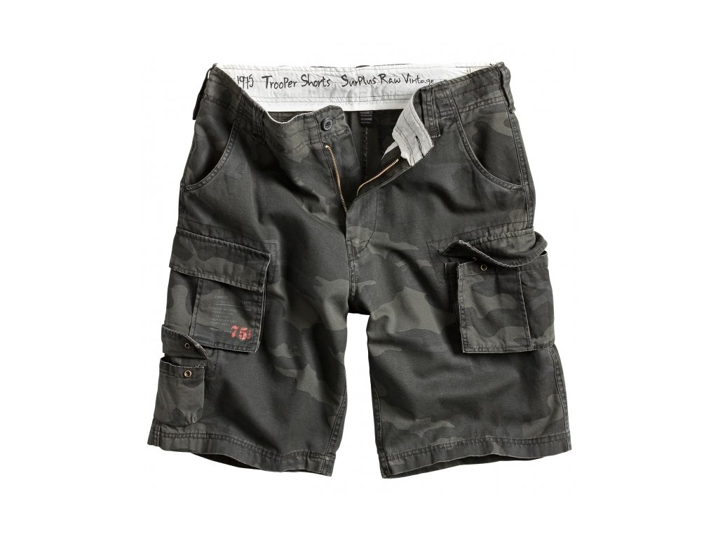 Surplus TROOPER SHORTS blackcamo pánske šortky