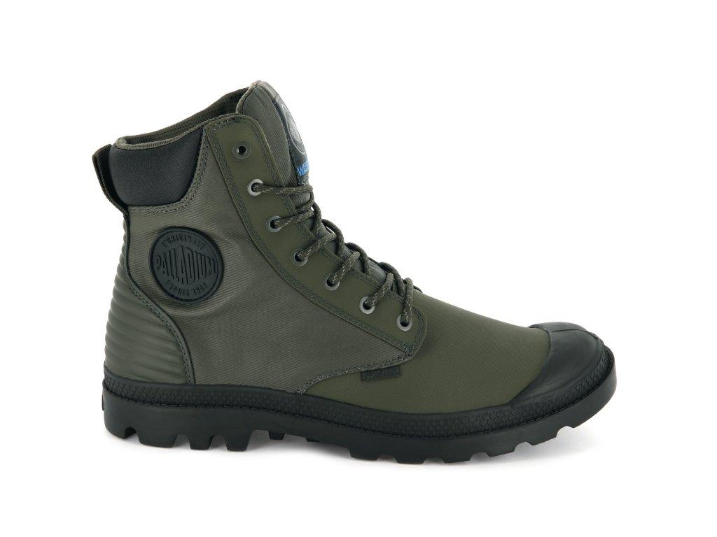 Palladium módne topánky SC SHADOW WPR M-OLIVE NIGHT/BELUGA
