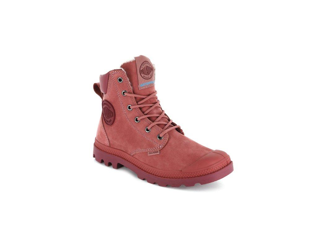 Palladium módne topánky PUDDLE LT WP U-GARNET ROSE/MOONBEAM