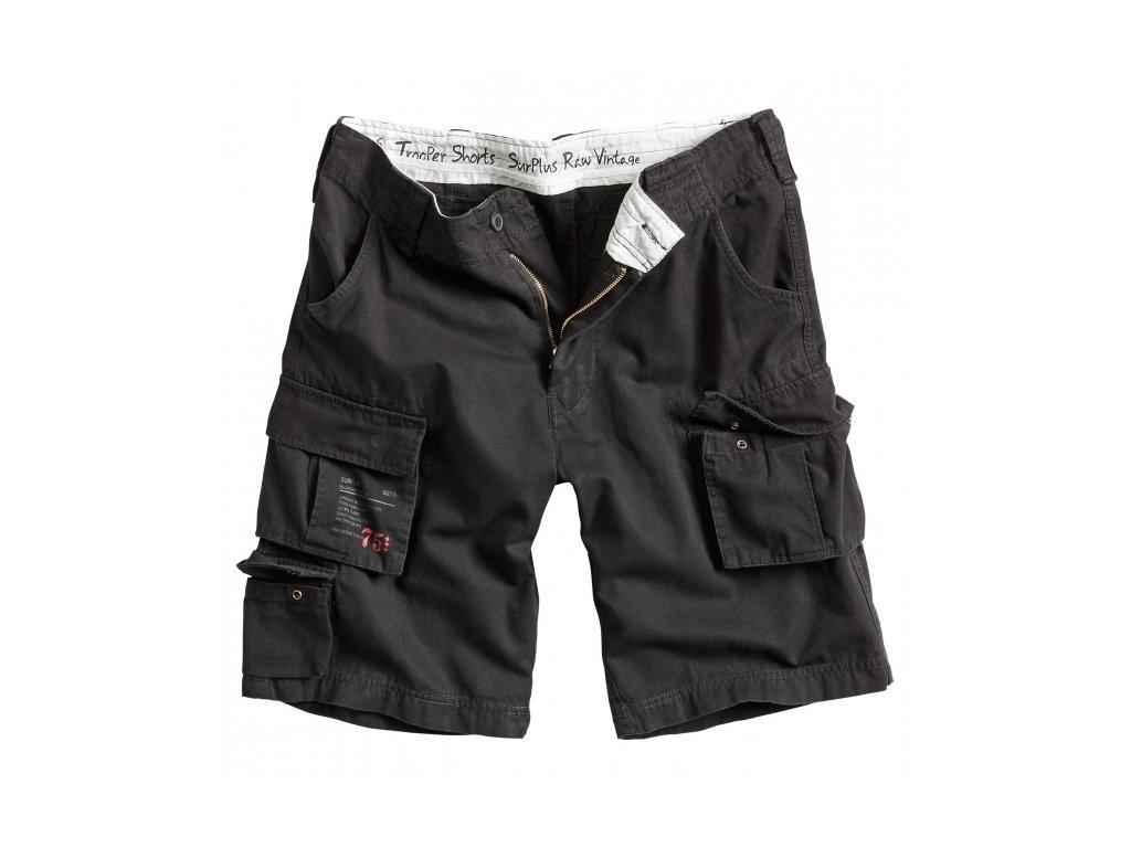 Surplus TROOPER SHORTS black washed pánske šortky