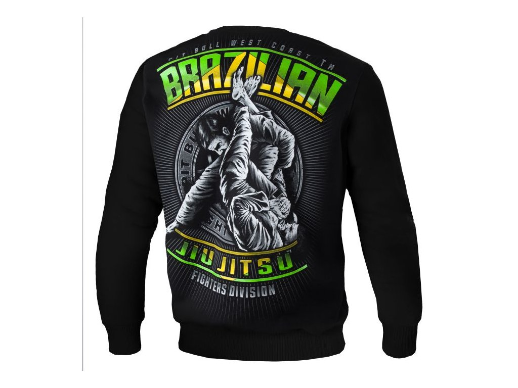 Pitbull West Coast mikina BRAZILIAN JIU JITSU black