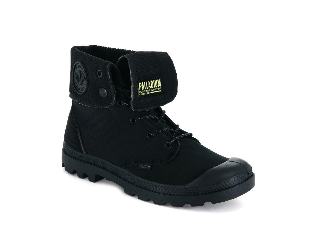 Palladium módne topánky BAGGY AMPHIBIAN BLACK/GREEN SHEEN