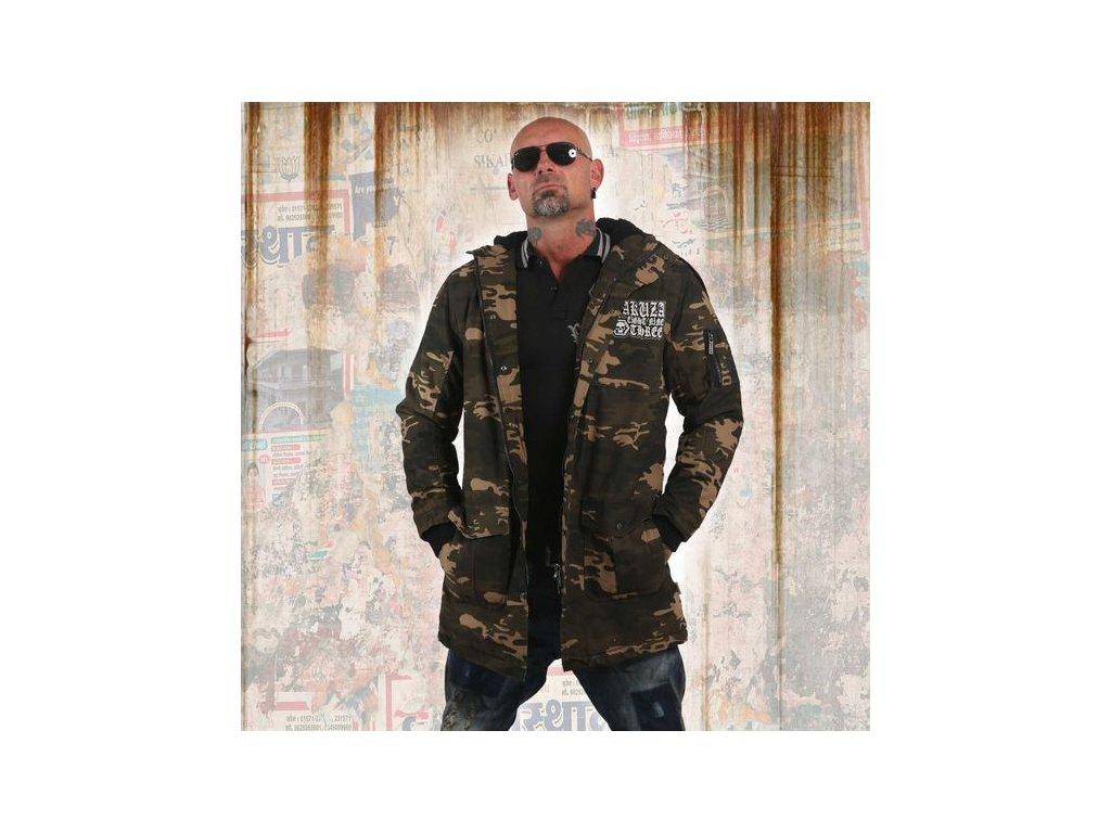 Yakuza zimná bunda FLAG TEDDY PARKA JB 12064 camouflage