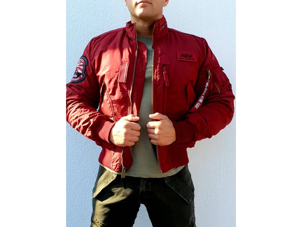 Alpha Industries Engine zimná bunda commander red