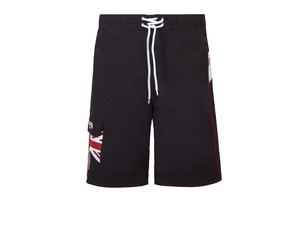Lonsdale Beach Shorts DAWLISH Black pánske kraťasy