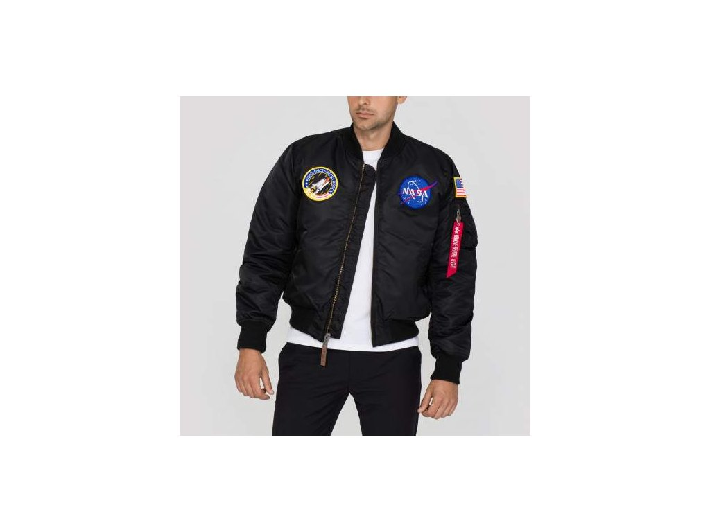 Alpha Industries MA-1 VF NASA bunda black