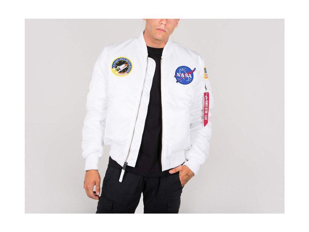 Alpha Industries MA-1 VF NASA bunda white