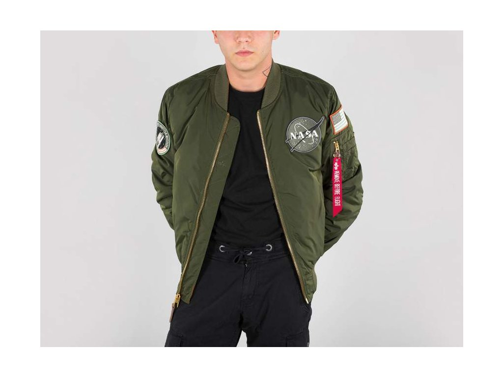 Alpha Industries MA-1 VF NASA RP zimná bunda dark green