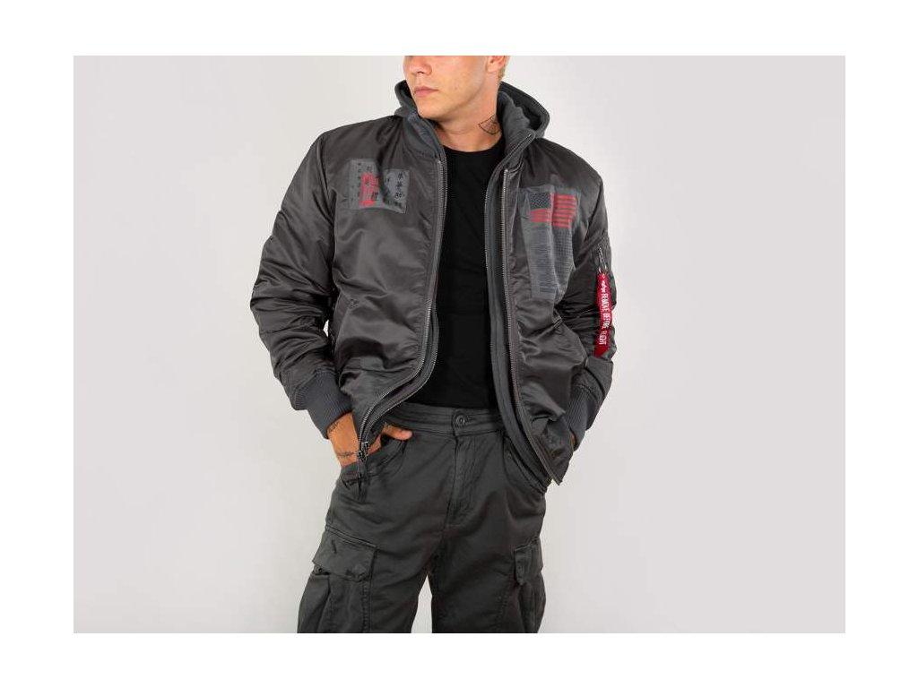 Alpha Industries MA-1 D-Tec Blood Chit zimná bunda greyblack