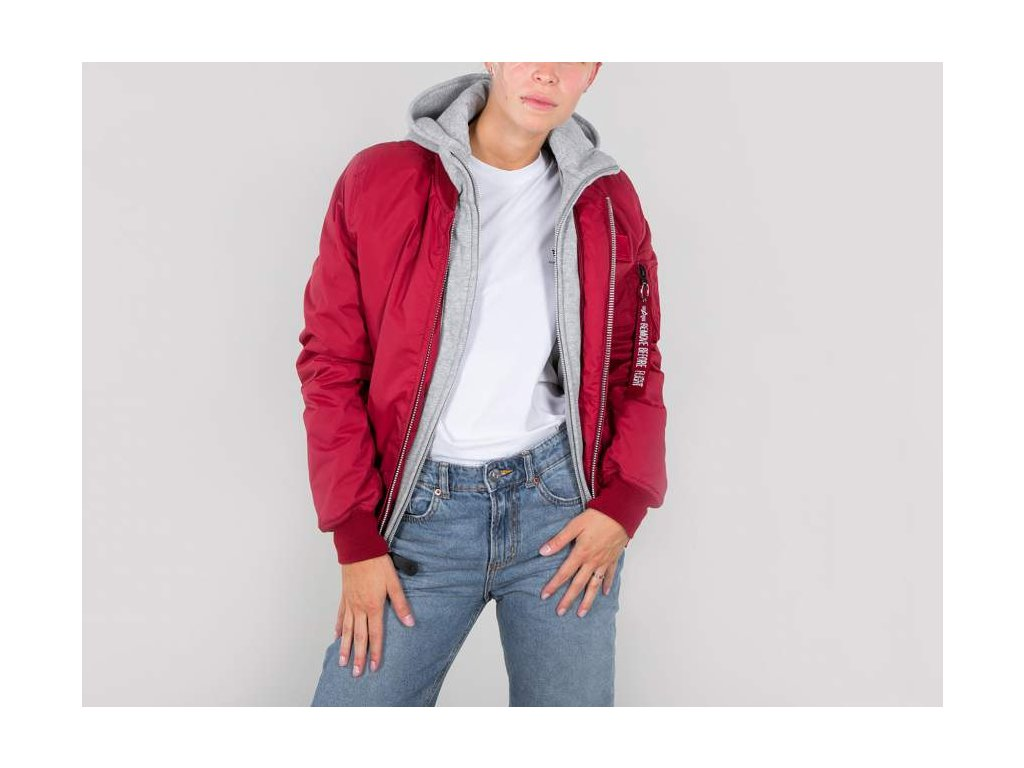 Alpha Industries MA-1 D-Tec BN Wmn dámska bunda commander red