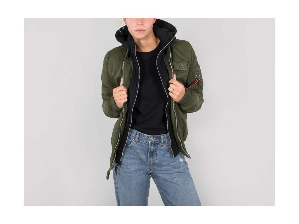 Alpha Industries MA-1 D-Tec BN Wmn dámska bunda dark green