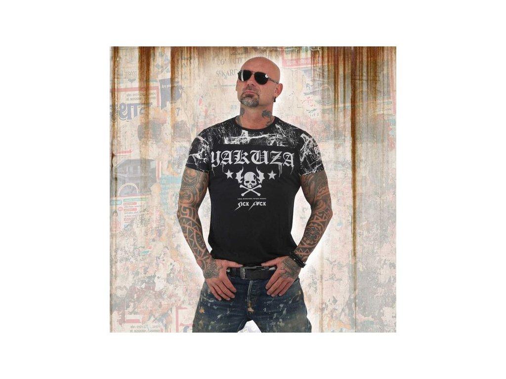 Yakuza tričko pánske MARBLE TSB 13034 black