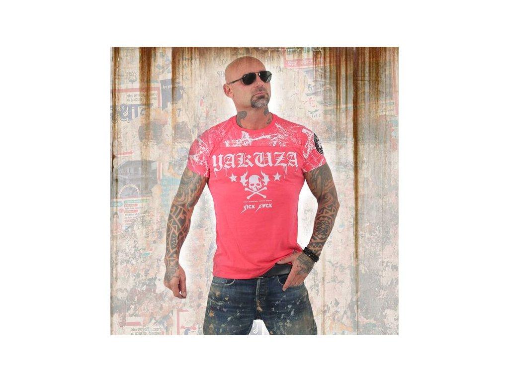 Yakuza tričko pánske MARBLE TSB 13034 geranium