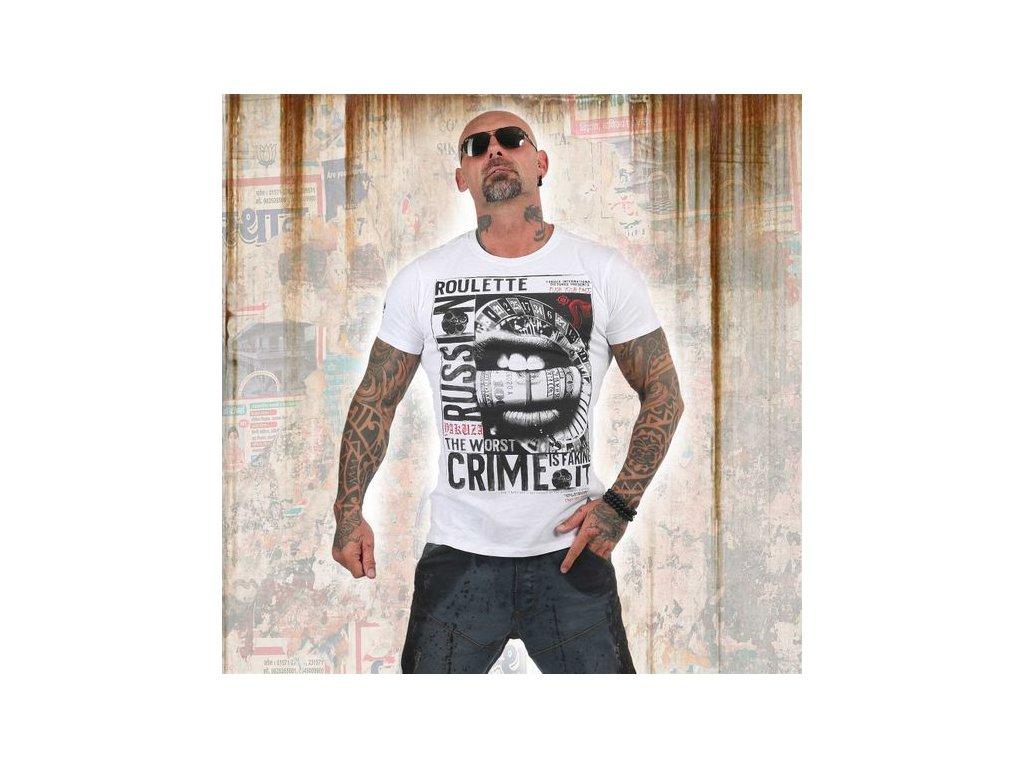 Yakuza tričko pánskeRUSSIAN ROULETTETSB 13039 white