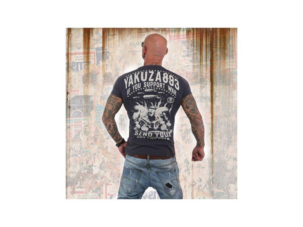 Yakuza tričko pánske SUPPORT?TSB 13042mood indigo