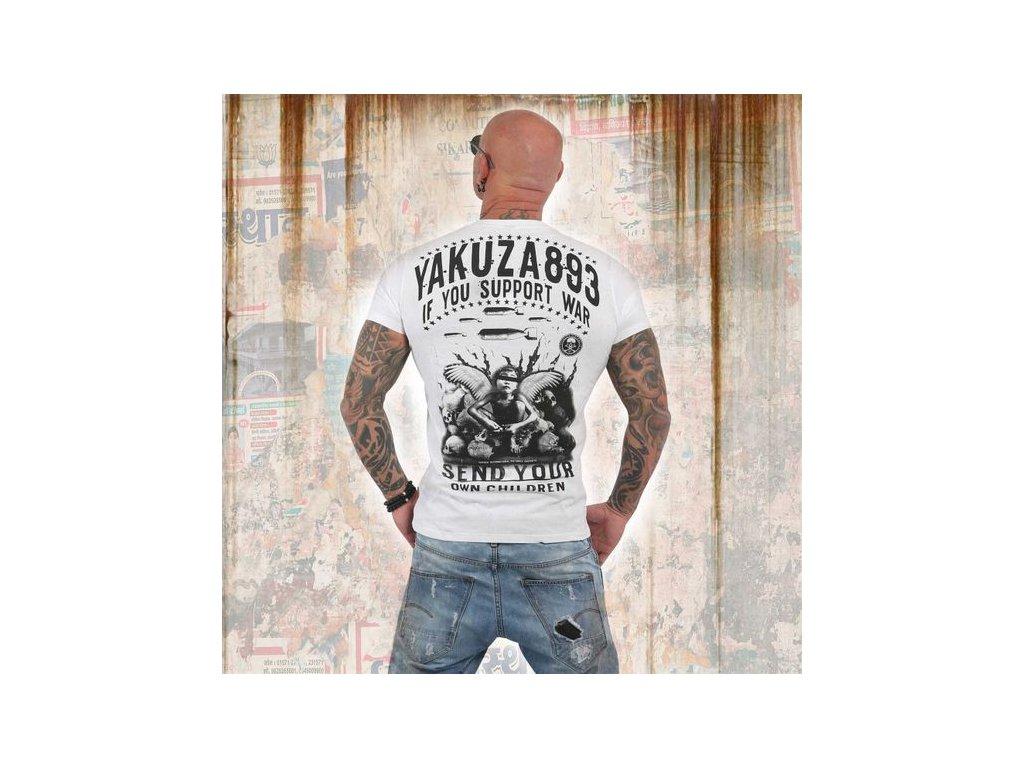 Yakuza tričko pánske SUPPORT?TSB 13042 white