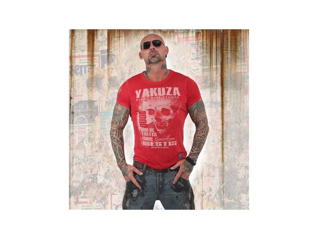 Yakuza BURNOUT QOUD SUMUS HOC ERITIS tričko pánske TSB 13049 ribbon red