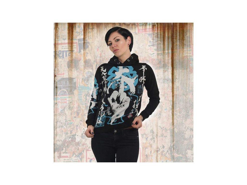 Yakuza JAPANESE FLEX HOODIE dámska mikina GHOB 13102 black
