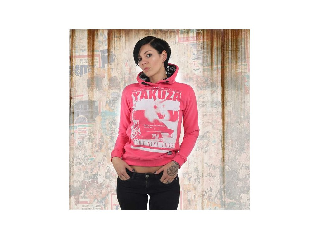 Yakuza dámska mikinaUNICORN FLEXGHOB 13104 camelia rose