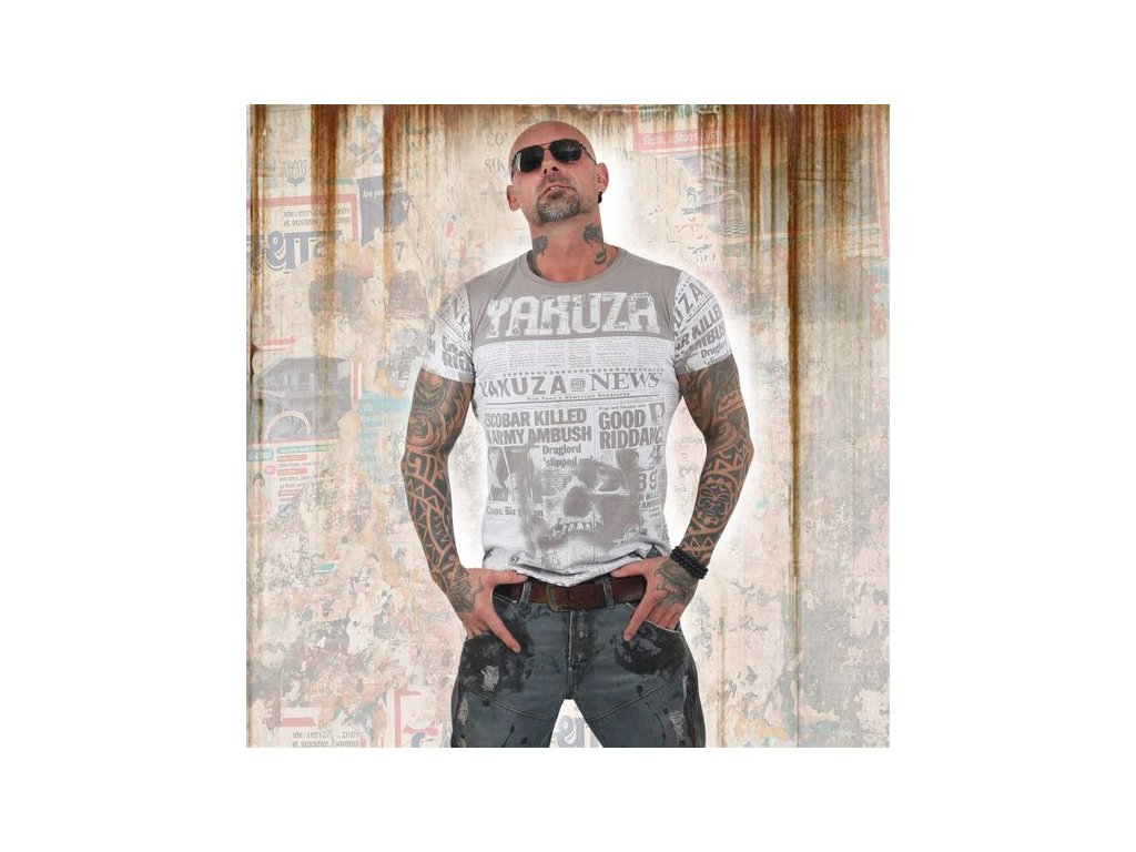 Yakuza ESCOBAR tričko pánske TSB 13044 cloudburst