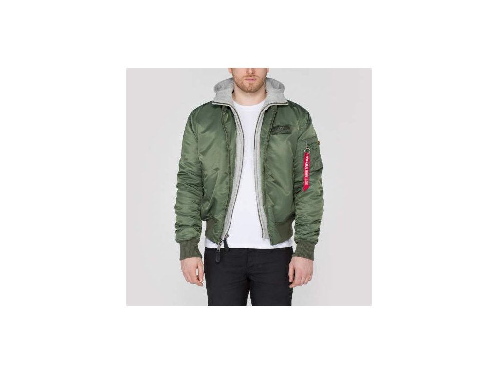 Alpha Industries zimná bunda MA-1 D-Tec sage green