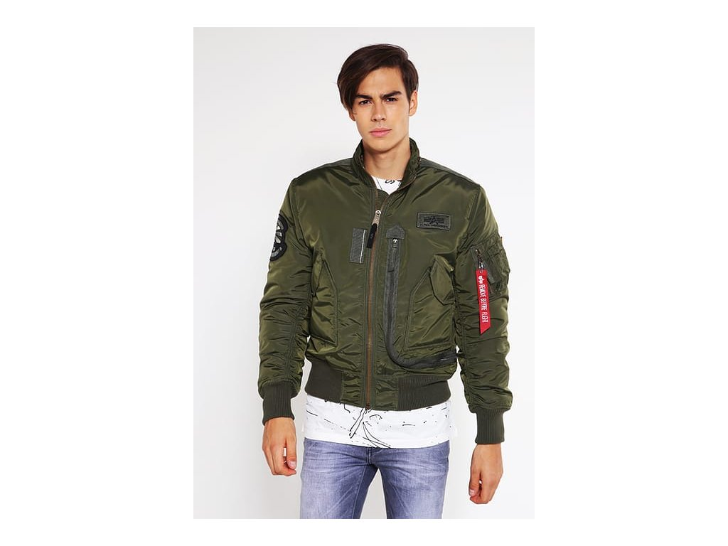 Alpha Industries Engine zimná bunda Dark Green