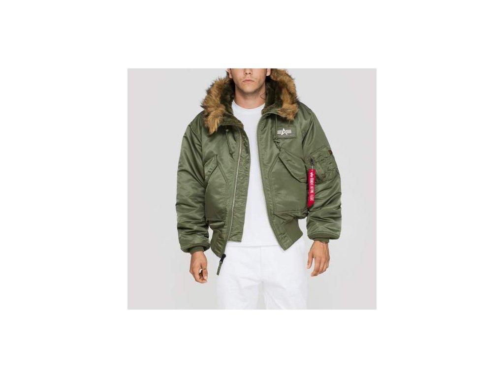 Alpha Industries zimná bunda 45 P Hooded Sage Green