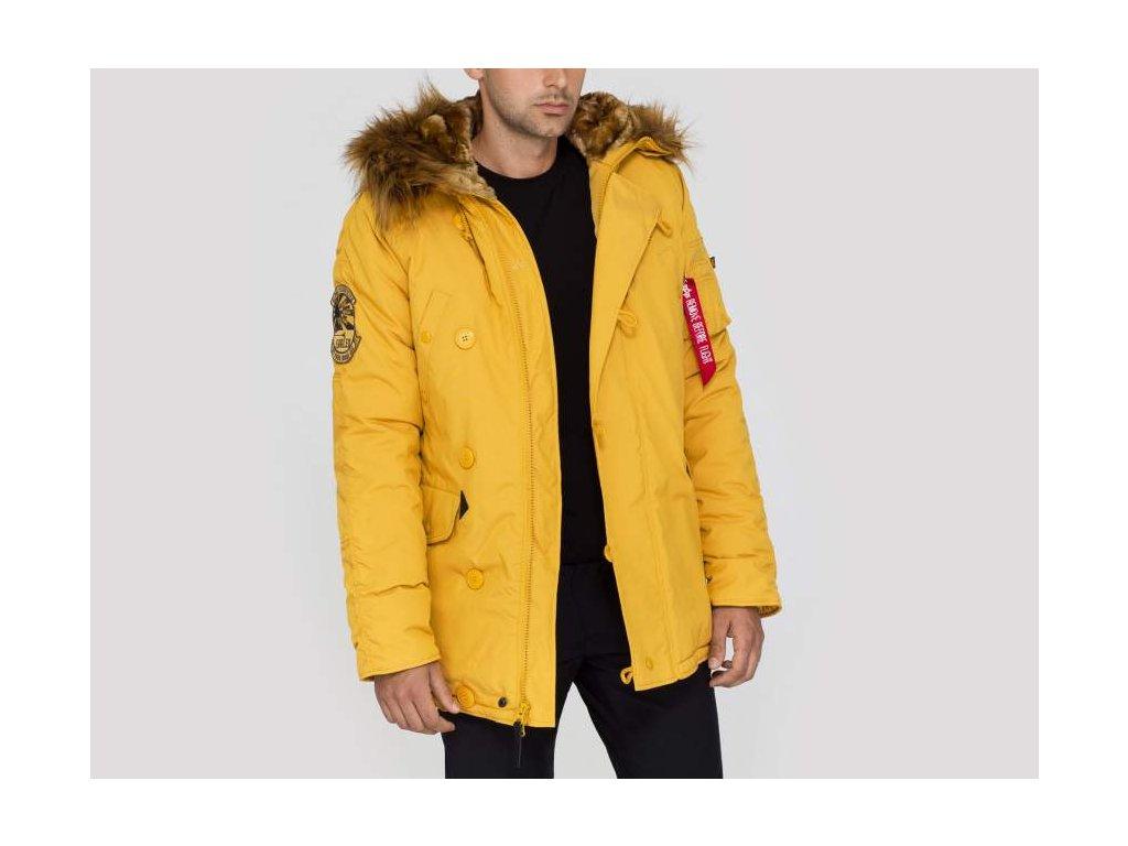 Alpha Industries zimná bunda Explorer mustard