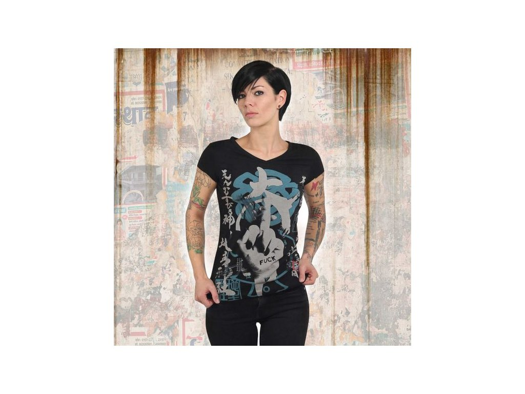 Yakuza JAPANESE V NECK dámske tričko GSB 13128 black