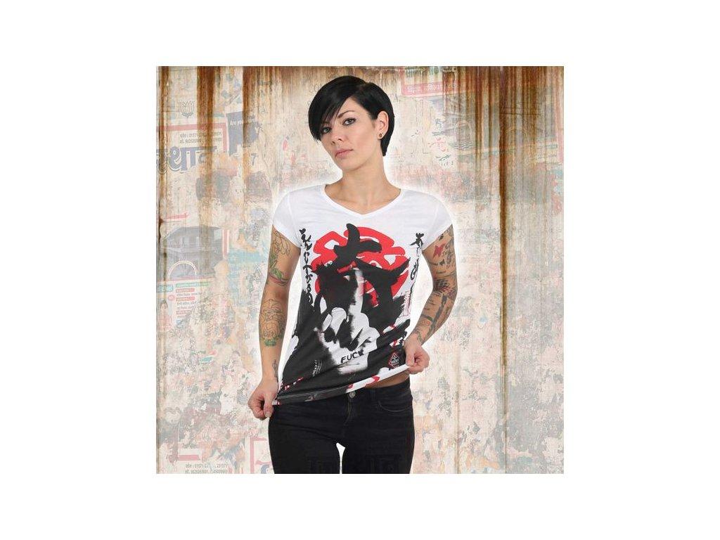 Yakuza JAPANESE V NECK dámske tričko GSB 13128 white