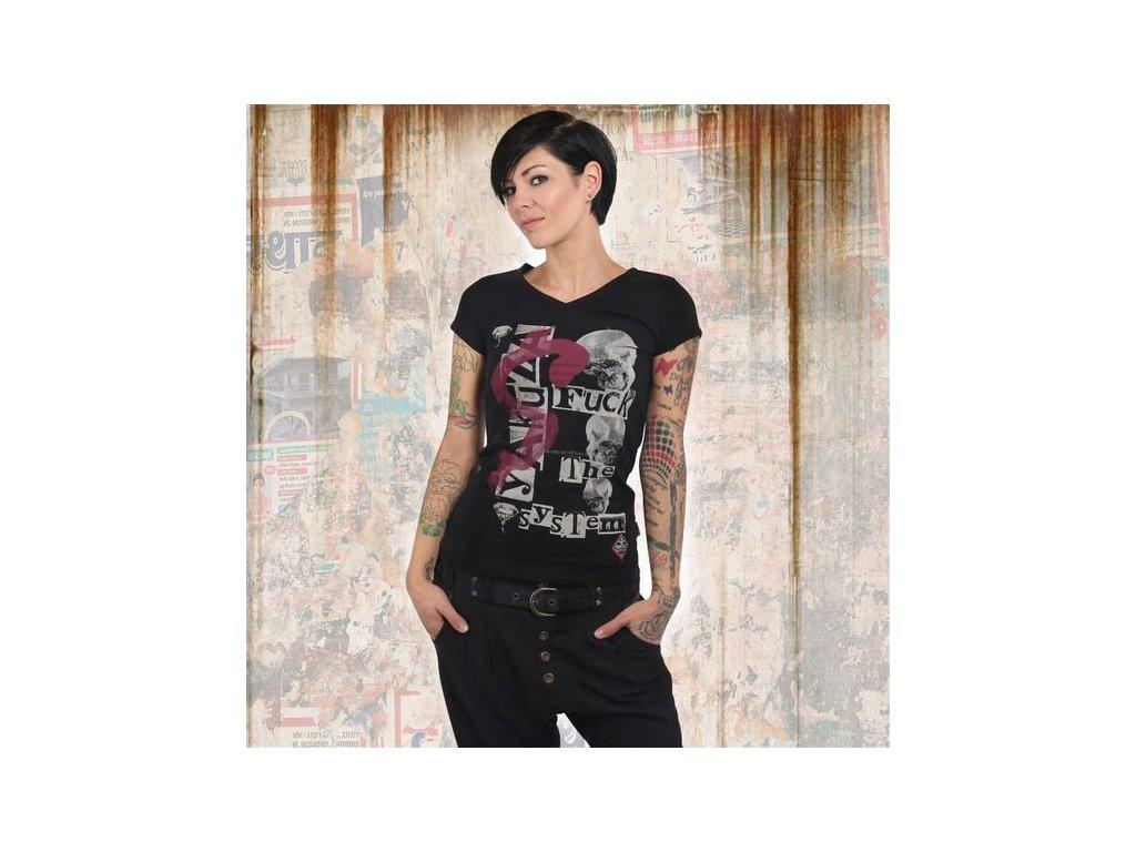 Yakuza FTS V NECK dámske tričko GSB 13132 black