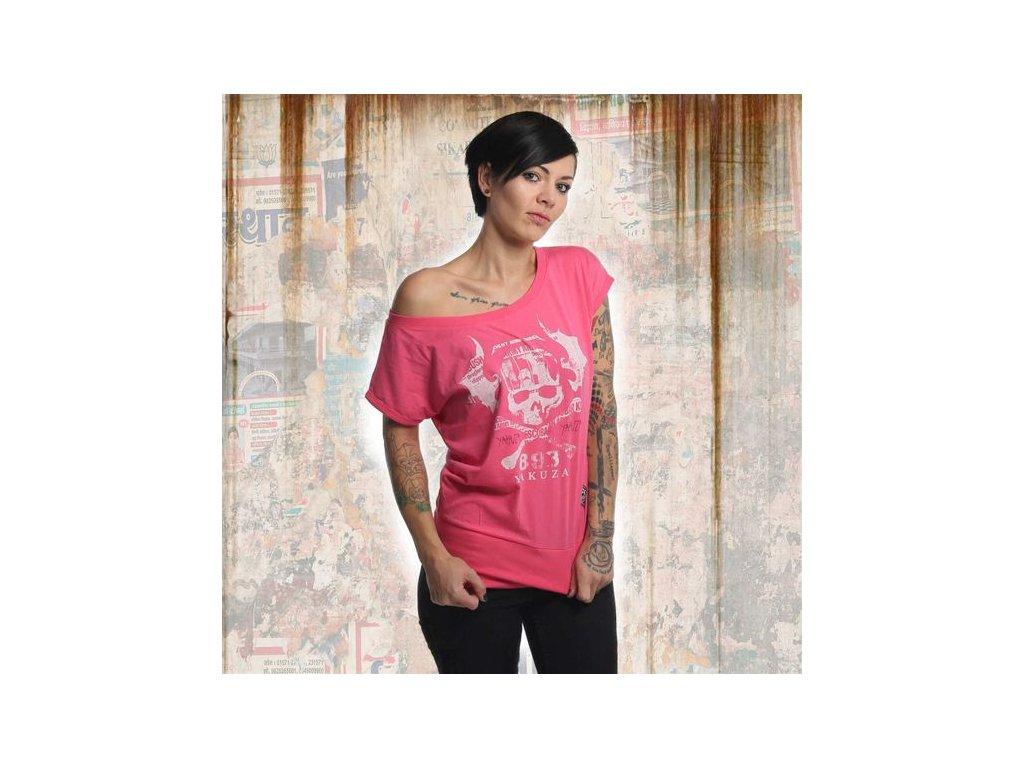 Yakuza SKULL WIDE dámske tričko GSB 13136 camelia rose