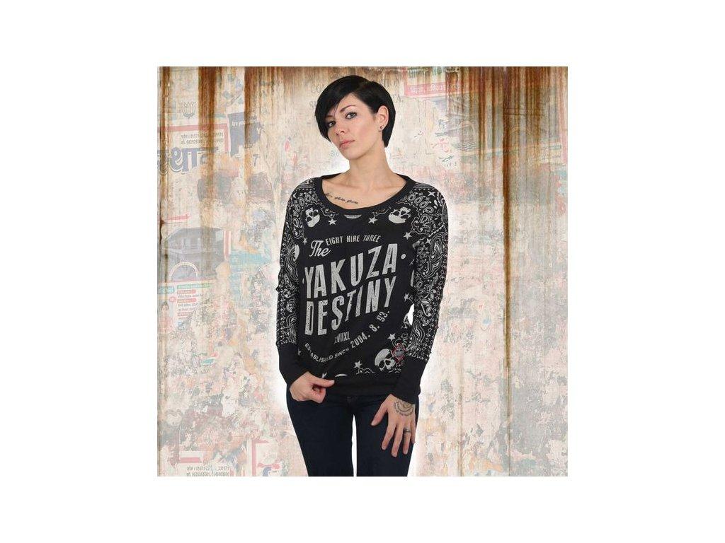 Yakuza TIJUANA dámske tričko s dlhým rukávom GLSB 13142 black