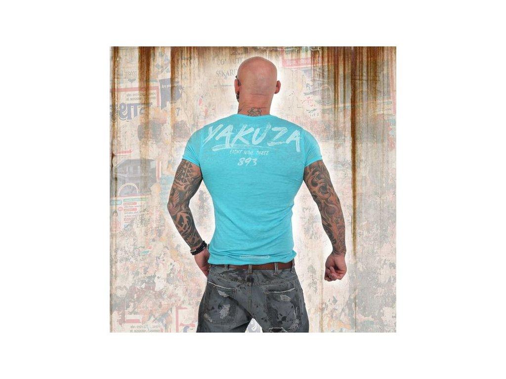 Yakuza BURNOUT CREW tričko pánske TSB 13061 malibu blue