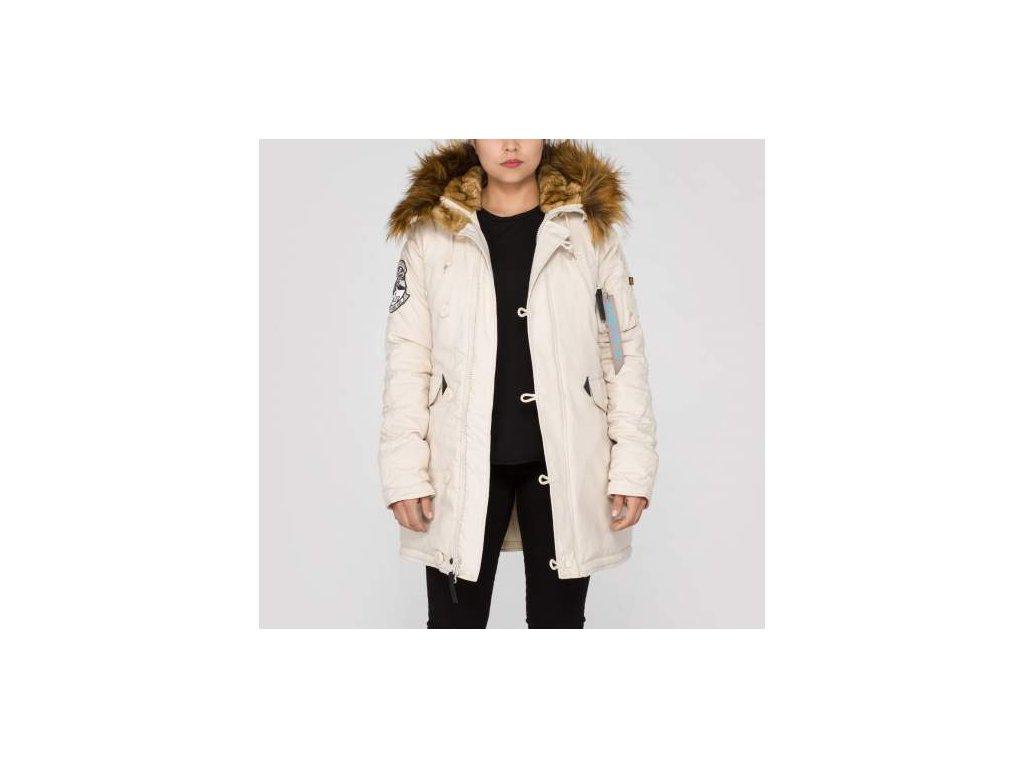 Alpha Industries Explorer Wmn dámska zimná bunda off white