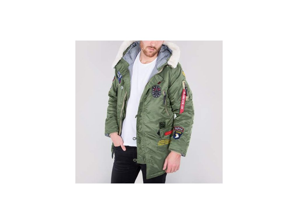 Alpha Industries N3B Patch zimná bunda sage green