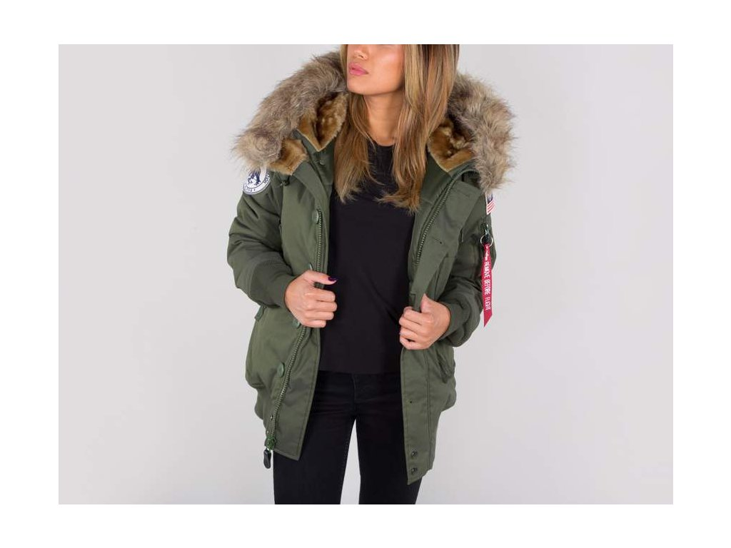 Alpha Industries Polar Jacket SVL dámska zimná bunda  dark green