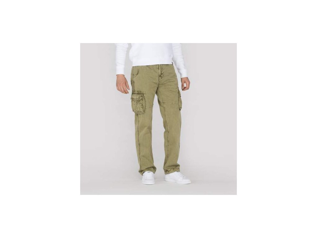 alpha industries nohavice jet pant olive