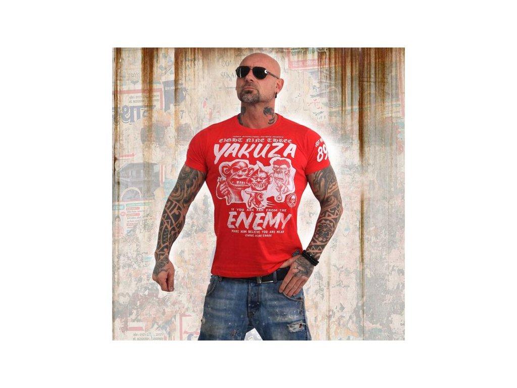 Yakuza ENEMY tričko pánske TSB 13027 ribbon red