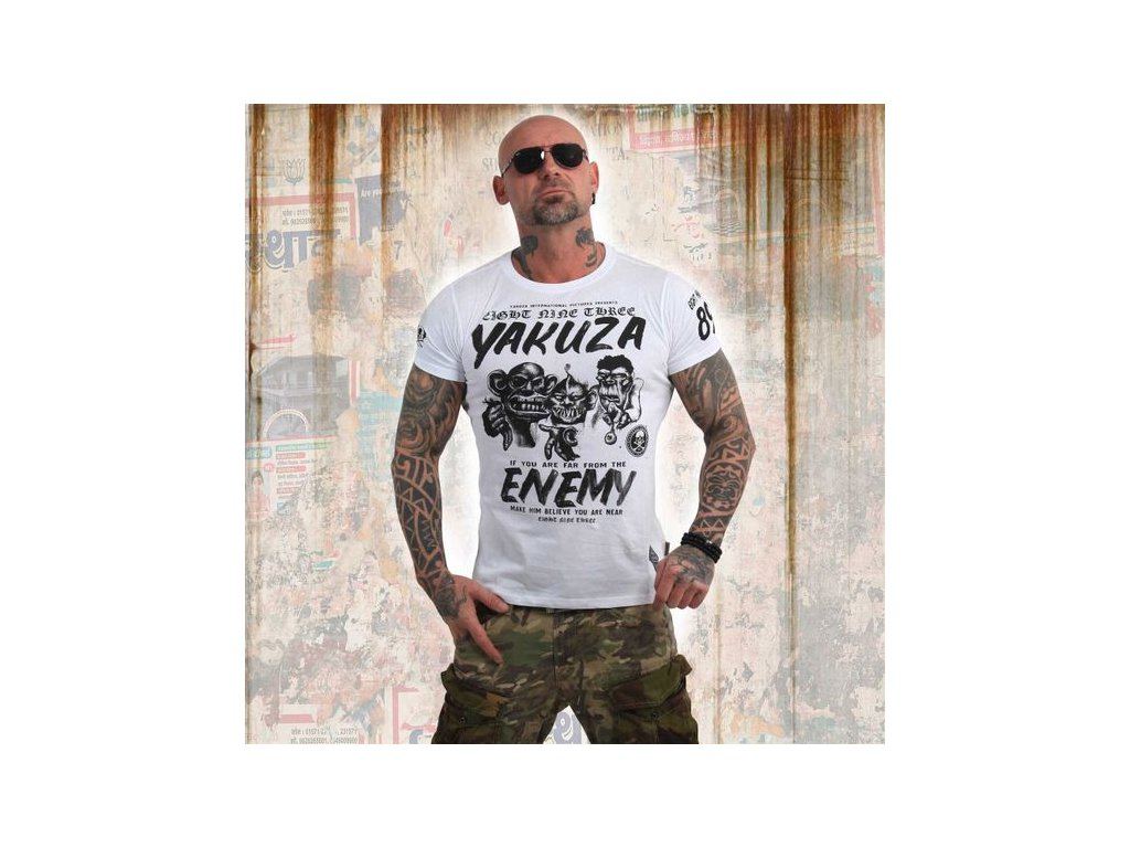 Yakuza ENEMY tričko pánske TSB 13027 white