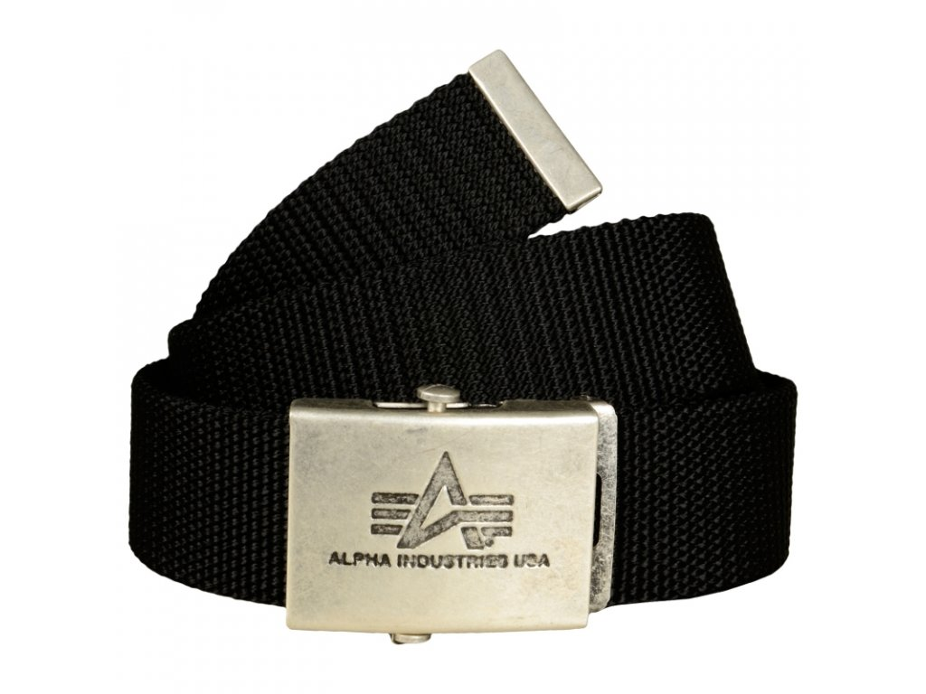 Alpha Industries Heavy Duty Belt 4 cm Black opasok