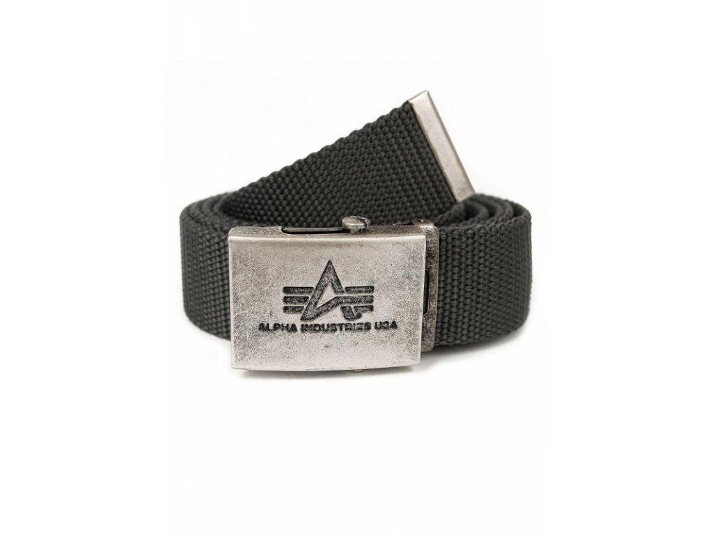 Alpha Industries Heavy Duty Belt 4 cm Rep Grey opasok