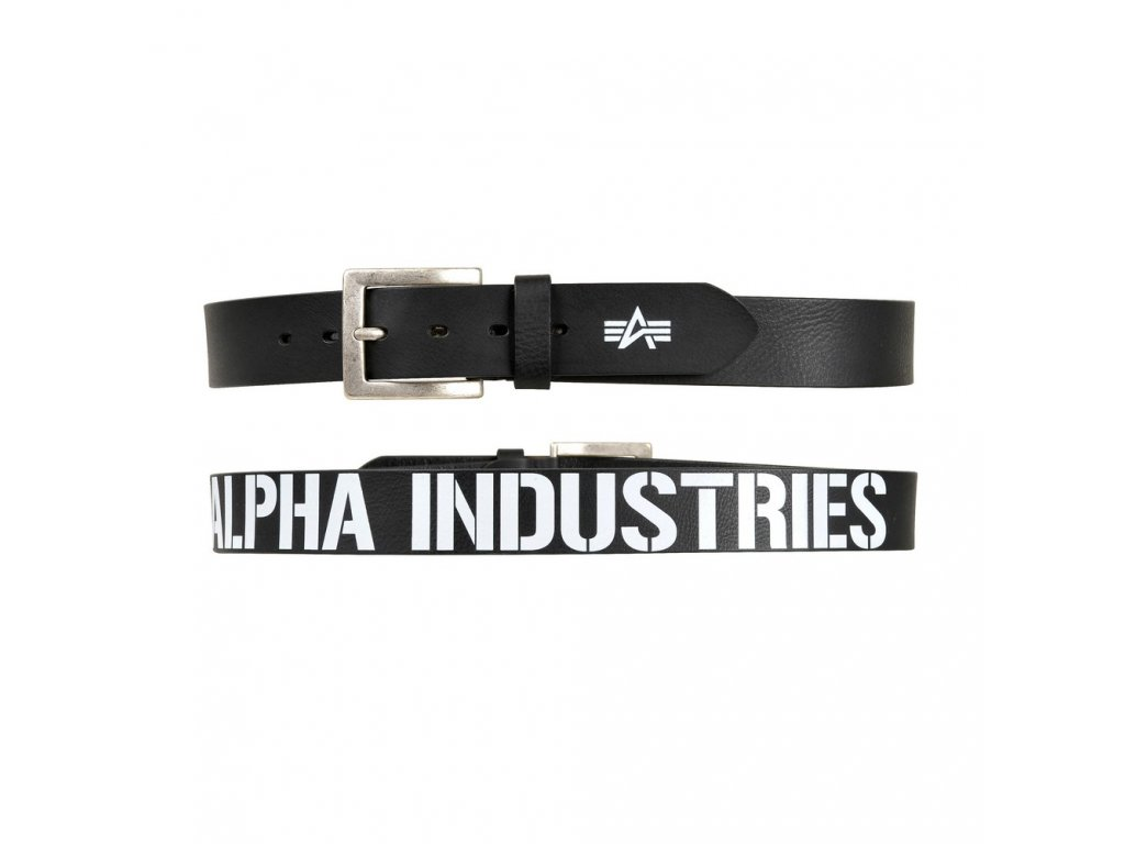 Alpha Industries Printed Alpha Belt Black opasok